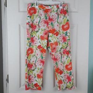 Lauren Ralph Lauren Summer Floral Pants Sz. 4